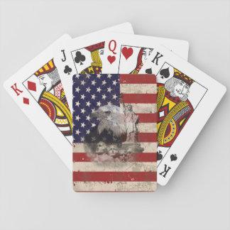 Baralho Bandeira e símbolos dos Estados Unidos ID155