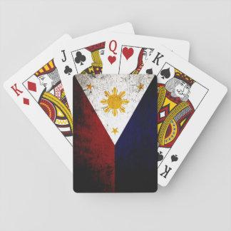 Baralho Bandeira preta de Filipinas do Grunge