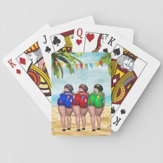 Baralho Banhando cartões de jogo das belezas