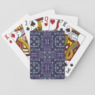 Baralho Caleidoscópio roxo em cartões de jogo