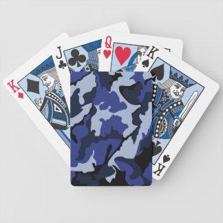 Baralho Camo azul, cartões de jogo da bicicleta
