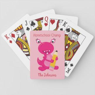Baralho Campeão cor-de-rosa engraçado de Homeschool do