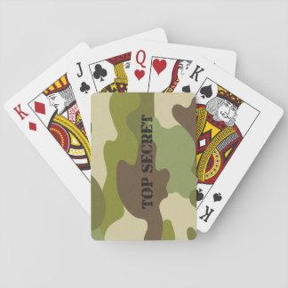 Baralho Camuflagem clássica dos cartões de jogo