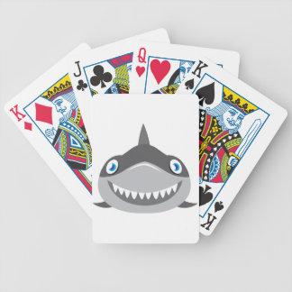 Baralho cara feliz bonito do tubarão