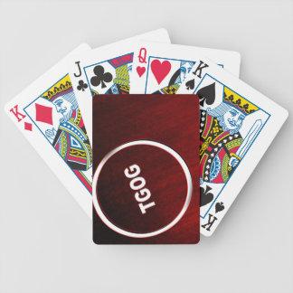 Baralho cartão de jogo