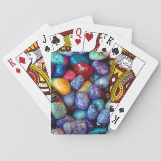 Baralho Cartão de jogo colorido das rochas