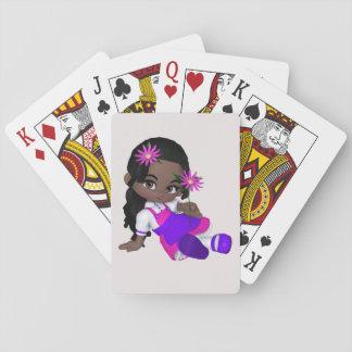 Baralho Cartão de jogo da menina