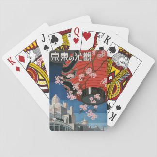 Baralho Cartão de jogo de Vintage1930s Tokyo Japão