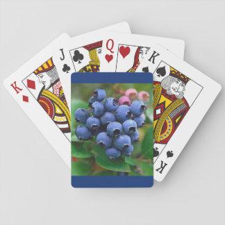 Baralho Cartão de jogo do mirtilo