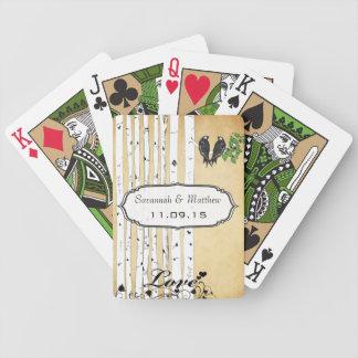 Baralho Cartão de jogo do presente de casamento dos