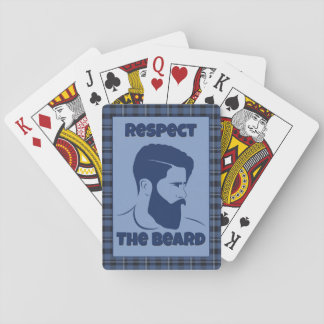 Baralho Cartão de jogo do respeito da barba