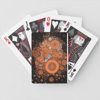 Baralho Cartões alaranjados florais dos círculos