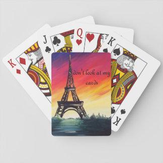Baralho cartões bonitos da torre do eifel