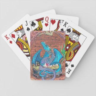 Baralho Cartões da família do dragão