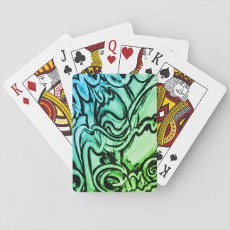Baralho Cartões de jogo abstratos da pintura do