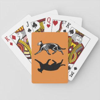 Baralho Cartões de jogo alaranjados do esqueleto e da