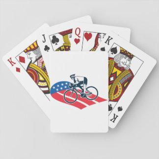 Baralho Cartões de jogo americanos do ciclista