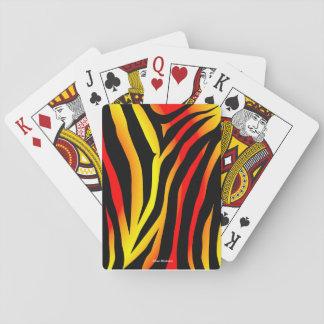 Baralho Cartões de jogo animais do teste padrão do