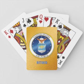 Baralho Cartões de jogo aposentados U.S.A.F.