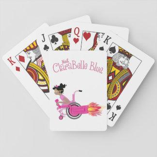 Baralho Cartões de jogo azuis de ClaraBelle