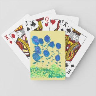 Baralho Cartões de jogo azuis de Flowerl