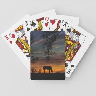 Baralho Cartões de jogo bonitos do cavalo e do carvalho