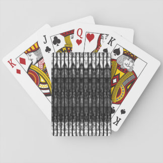Baralho Cartões de jogo brancos pretos de n