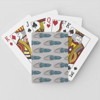 Baralho Cartões de jogo, calçados do vintage, brancos