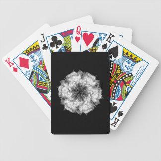Baralho Cartões de jogo clássicos da flor branca