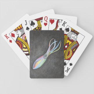Baralho Cartões de jogo clássicos do calamar do arco-íris