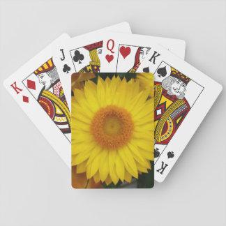 Baralho Cartões de jogo clássicos temáticos da flor