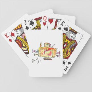 Baralho Cartões de jogo com cilindro