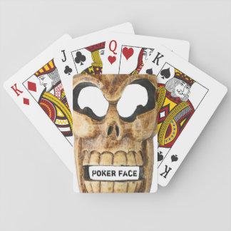 Baralho Cartões de jogo com crânio de esqueleto