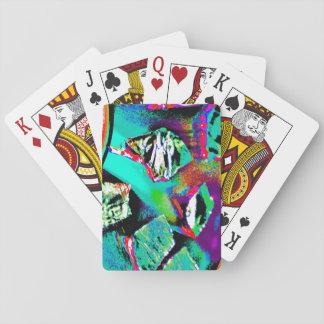 Baralho Cartões de jogo com imagem abstrata colorida