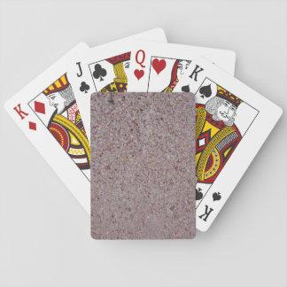 Baralho Cartões de jogo cor-de-rosa da areia
