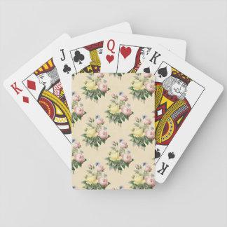 Baralho Cartões de jogo cor-de-rosa do teste padrão de