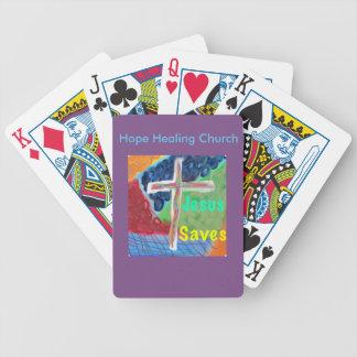 Baralho Cartões de jogo cristãos de Jesus da igreja cura
