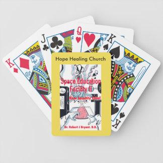 Baralho Cartões de jogo cristãos do espaço da ficção