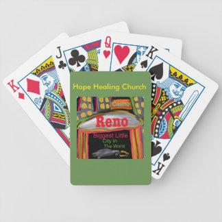 Baralho Cartões de jogo curas de Reno Nevada da igreja da