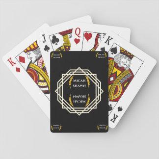 Baralho Cartões de jogo da assinatura da marca de Micah