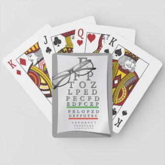 Baralho Cartões de jogo da carta do optometrista