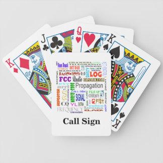 Baralho Cartões de jogo da colagem da palavra do