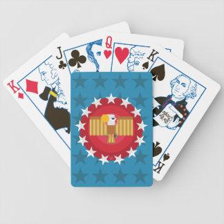 Baralho Cartões de jogo da eleição de Eagle da liberdade