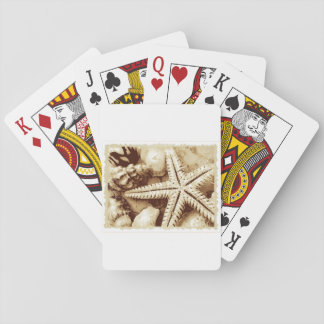 Baralho Cartões de jogo da estrela do mar e dos Seashells