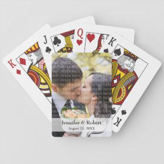 Baralho Cartões de jogo da foto da lembrança