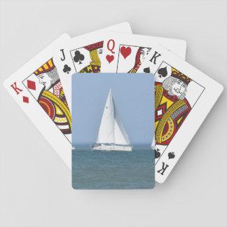 Baralho Cartões de jogo da foto do veleiro