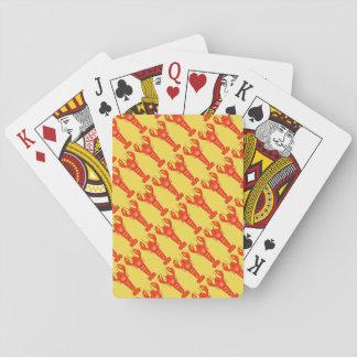 Baralho Cartões de jogo da lagosta