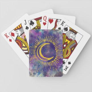 """Baralho Cartões de jogo da """"lua"""" (Ouro-Etc.)"""
