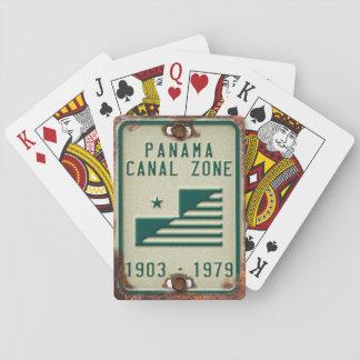 Baralho Cartões de jogo da matrícula da zona do canal do