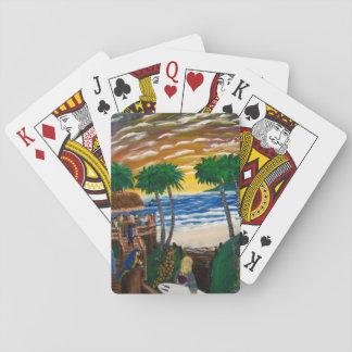 Baralho Cartões de jogo da praia